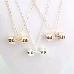 Dumbell fitness necklace!